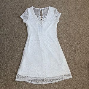 Hollister white mini dress